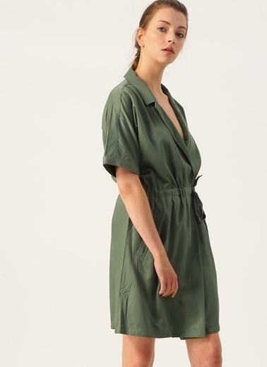 Vero Moda Vero Moda Yeşil Gömlek Yaka Elbise Yeşil